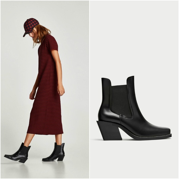 Zara Shoes | Cowboy Ankle Boots | Poshmark
